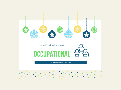Christmas decorations with occupational words and symbol