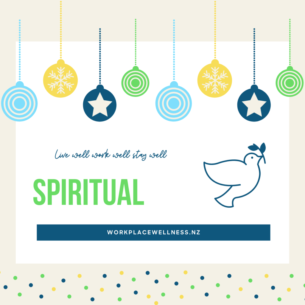 Christmas decorations with spiritual dimension of wellness and symbol